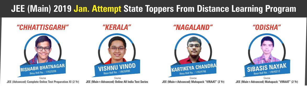 JEE Main 2019 Jan Result State Toppers